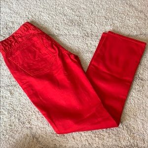 JCrew Matchstick Red Jeans Size 27